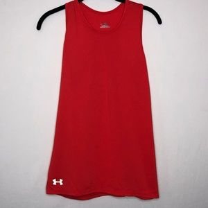 Under Armour Athletes Run Rust Red Tank Size S